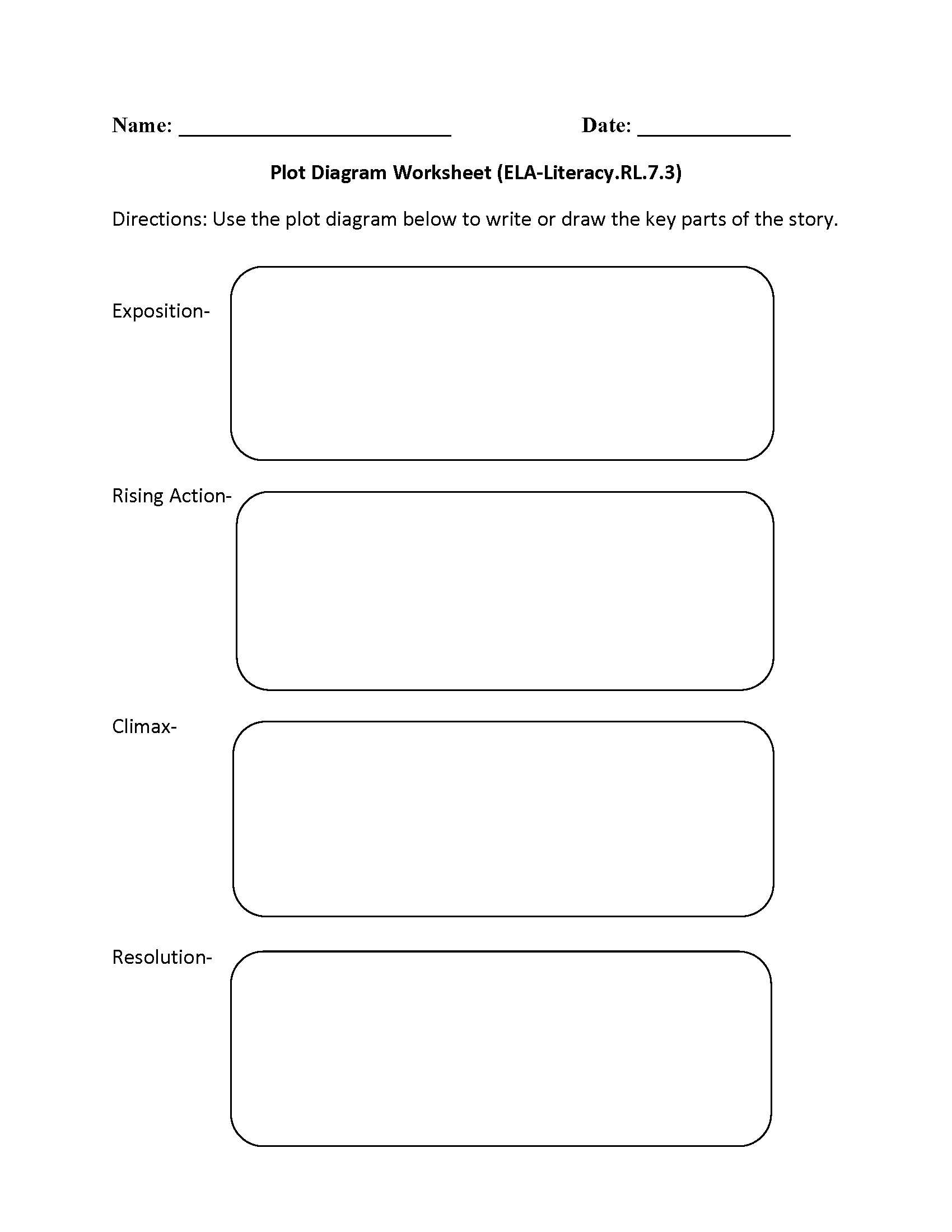 Plot Character Conflict Theme Setting Worksheet