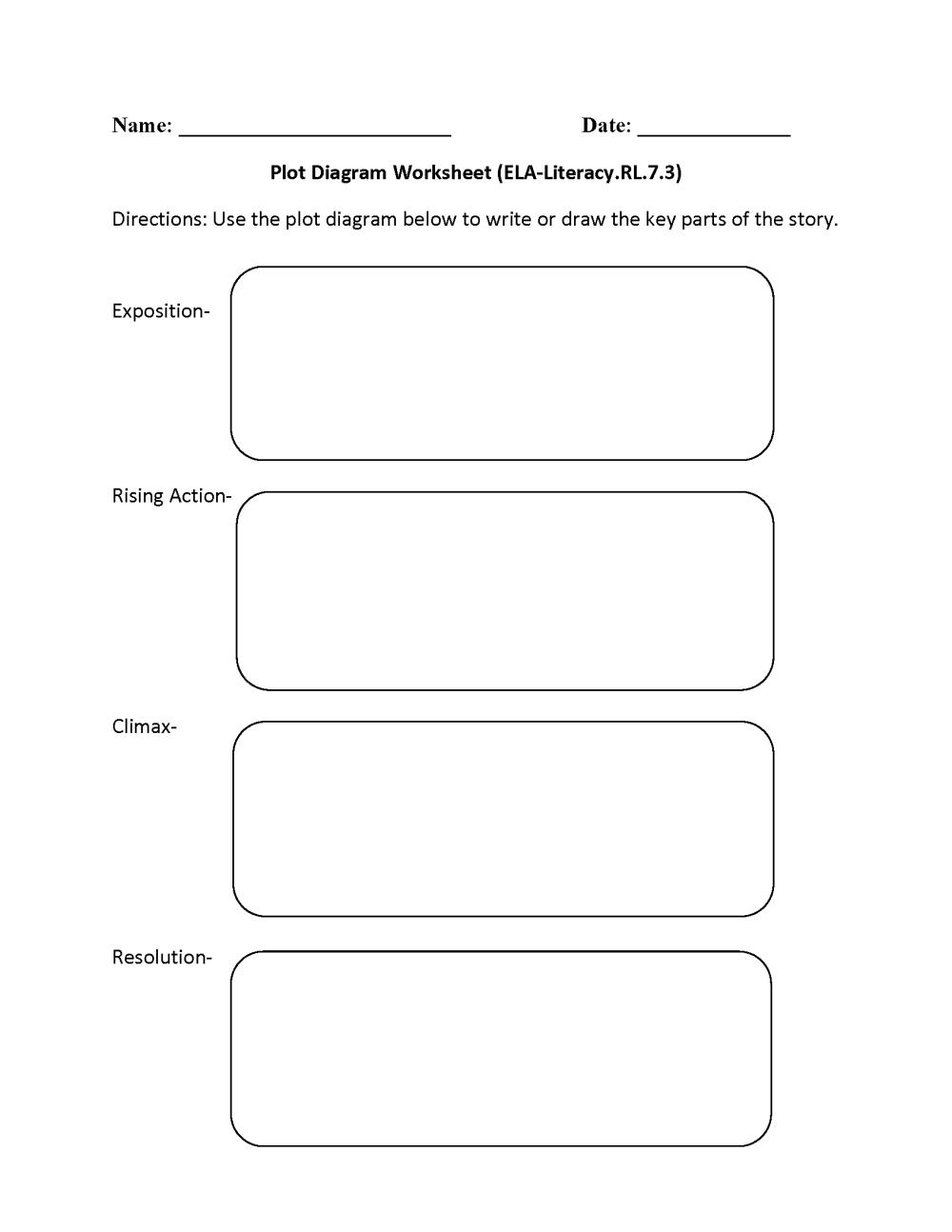 medium resolution of plot diagram ela literacy rl 7 3 reading literature worksheet