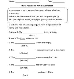 Nouns Worksheets   Possessive Nouns Worksheets [ 1662 x 1275 Pixel ]