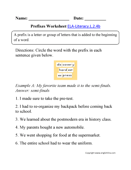 small resolution of 2nd Grade Common Core   Language Worksheets