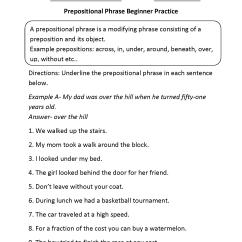 Sentence With Prepositional Phrase Diagram Toyota Echo Fog Light Wiring Phrases Worksheets Prepostional