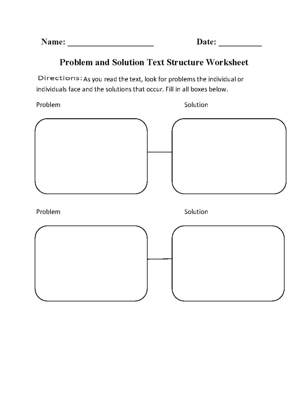 medium resolution of Text Structure Worksheets   Problem and Solution Text Structure Worksheets