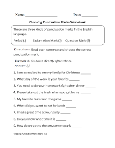 Punctuation worksheets also englishlinx rh