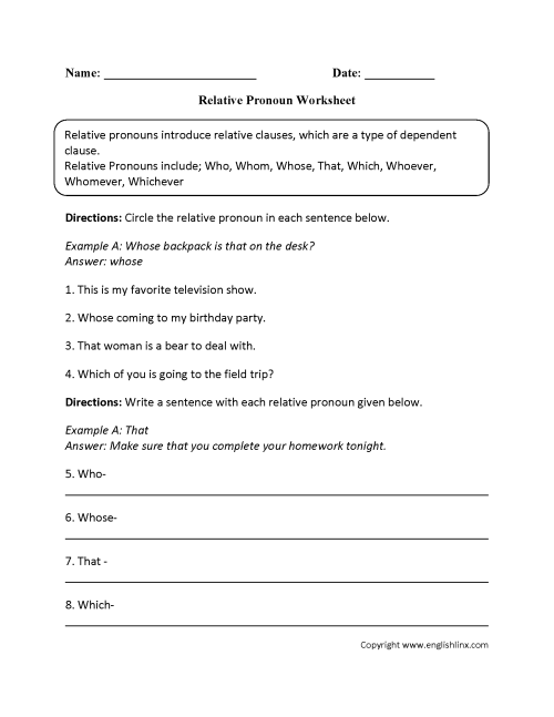 small resolution of Parts Speech Worksheets   Pronoun Worksheets