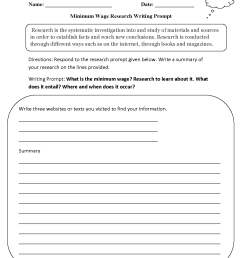 Writing Prompts Worksheets   Research Writing Prompts Worksheets [ 1650 x 1275 Pixel ]