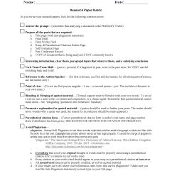 Research Worksheets   Research Paper Rubric Worksheet [ 2200 x 1700 Pixel ]
