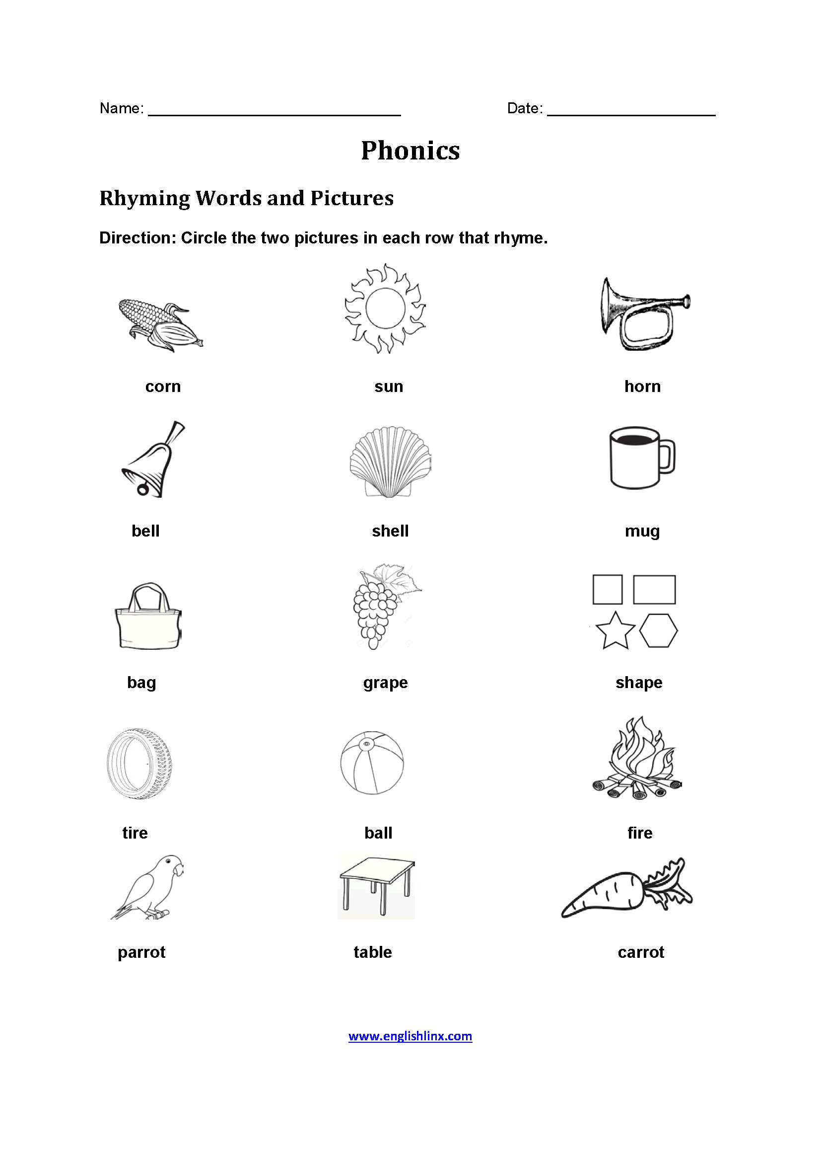Worksheet English Espa L