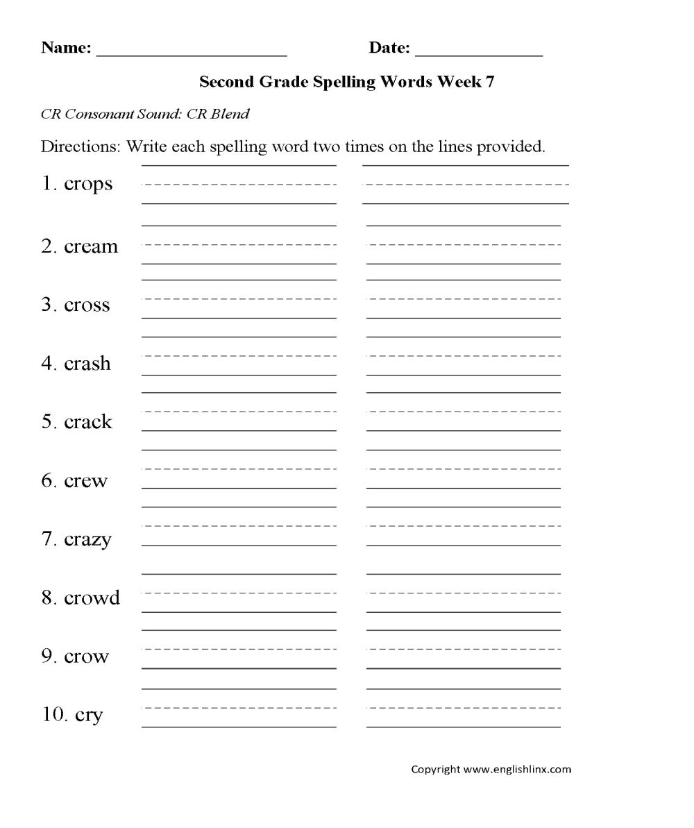 medium resolution of Spelling Worksheets   Second Grade Spelling Worksheets