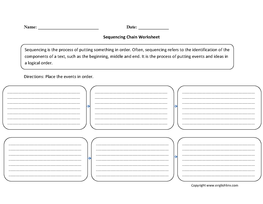 medium resolution of Writing Worksheets   Sequencing Worksheets