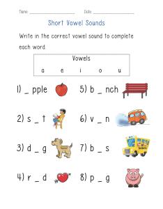 Worksheet also englishlinx vowels worksheets rh