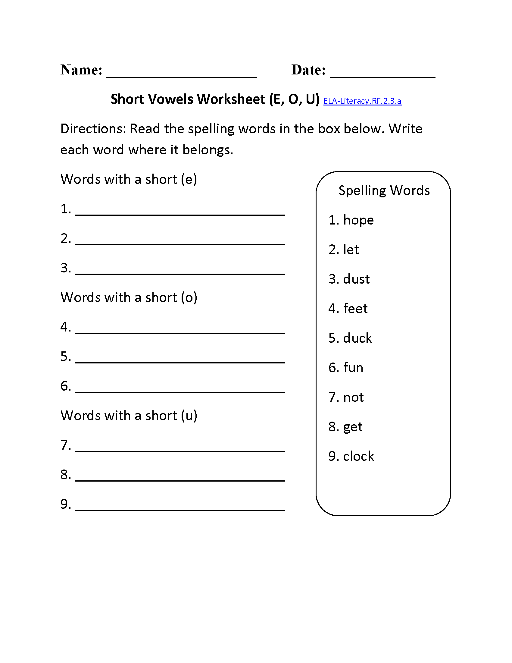 hight resolution of 2nd Grade Common Core   Reading Foundational Skills Worksheets
