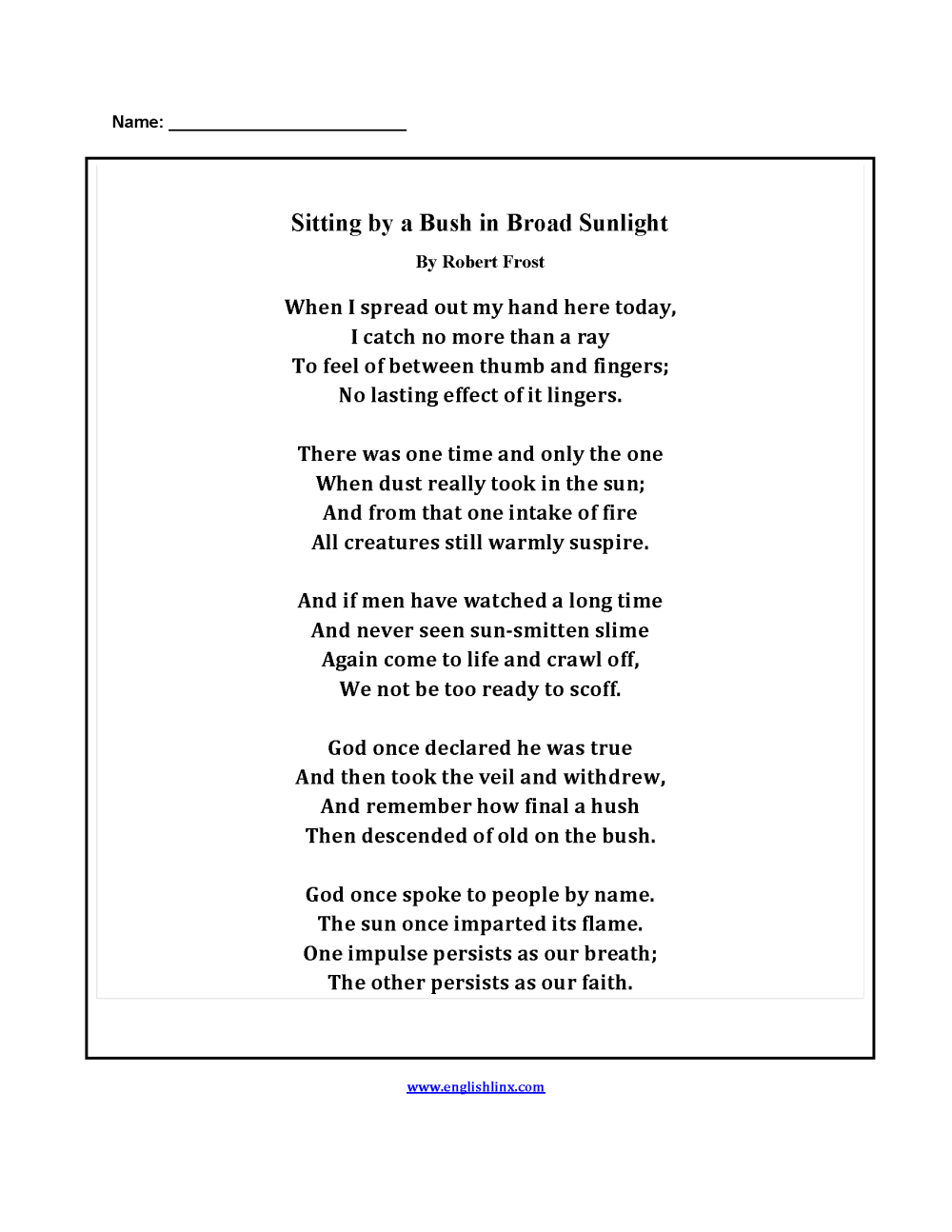medium resolution of Englishlinx.com   Poetry Worksheets