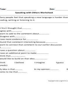 Speaking with others worksheets also englishlinx rh