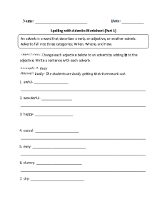 Spelling with adverbs worksheets also englishlinx rh