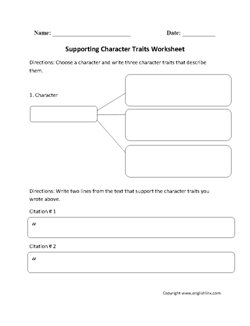 small resolution of Reading Worksheets   Character Traits Worksheets