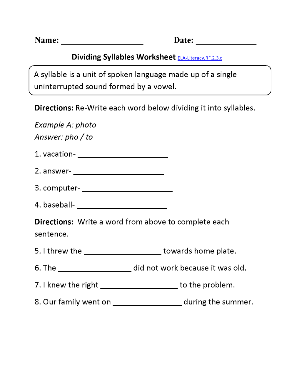 medium resolution of Short Vowel Worksheets For Second Grade   Printable Worksheets and  Activities for Teachers