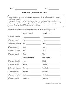 Verb conjugation worksheets also verbs rh englishlinx