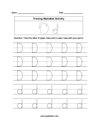 Trace The Alphabet Worksheets - Rcnschool