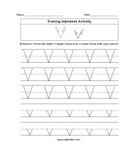 Letter V Tracing Worksheet - Rcnschool