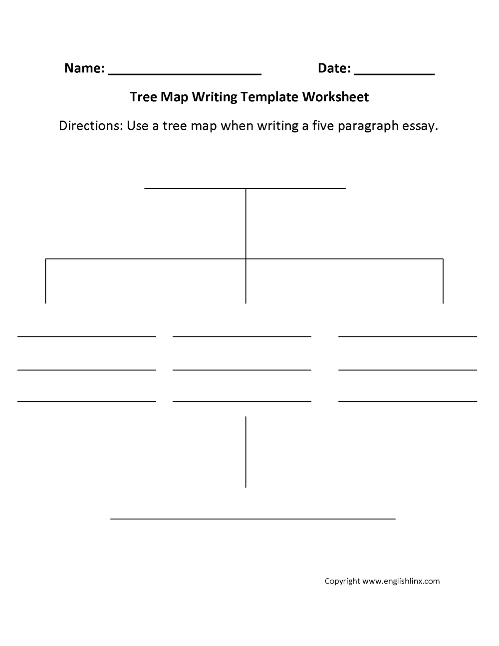 medium resolution of Writing Template Worksheets   Tree Map Writing Template Worksheet