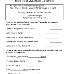Adjectives Worksheets   Regular Adjectives Worksheets [ 2200 x 1700 Pixel ]