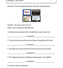 Content by Subject Worksheets   Figurative Language Worksheets [ 1826 x 1037 Pixel ]