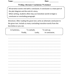 Englishlinx.com   Writing Conclusions Worksheets [ 1662 x 1275 Pixel ]
