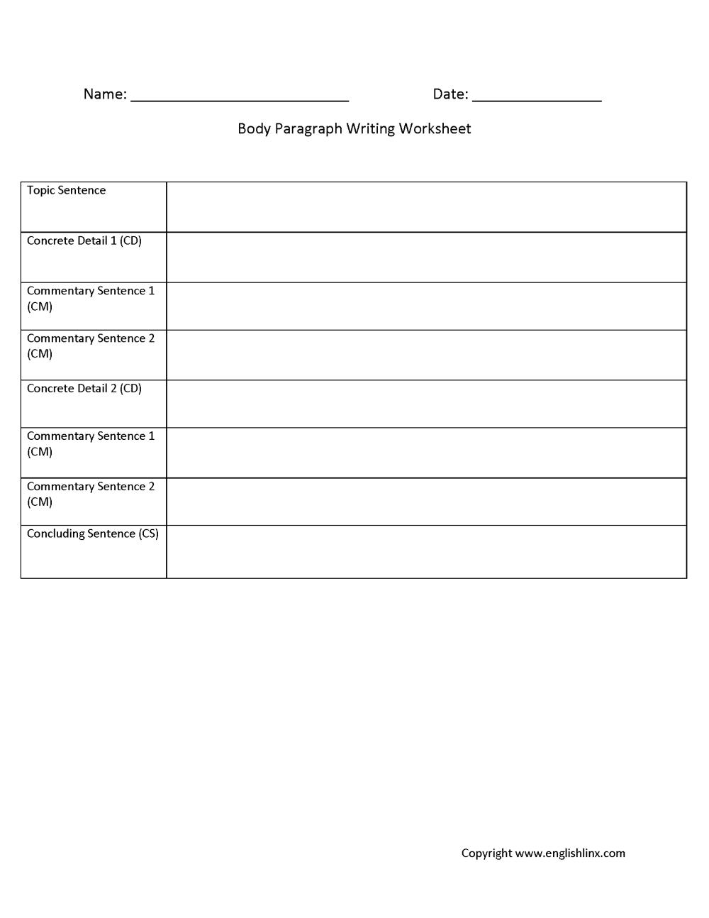 medium resolution of Englishlinx.com   Writing Worksheets
