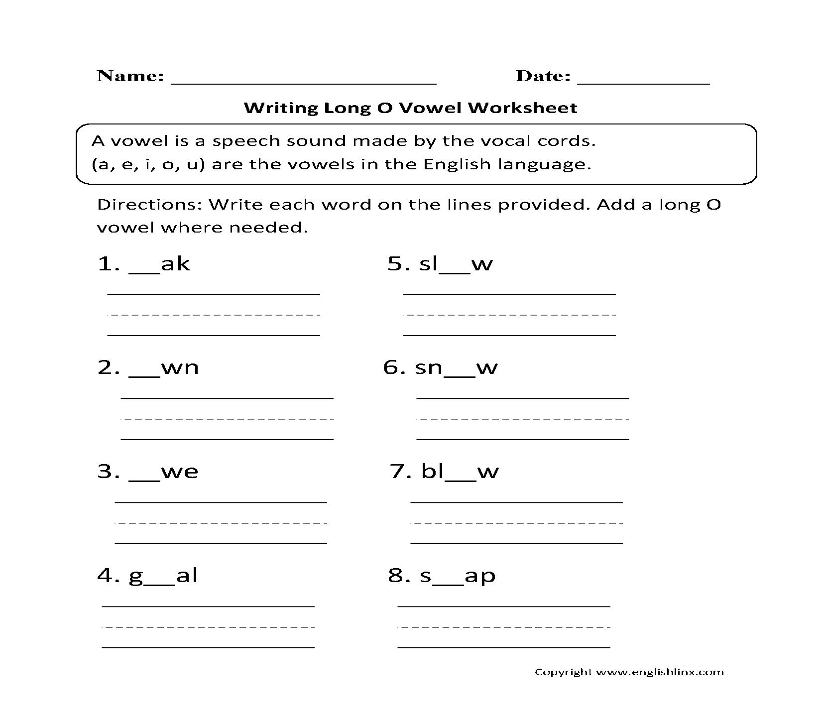 hight resolution of Vowel Worksheets   Short and Long Vowel Worksheets