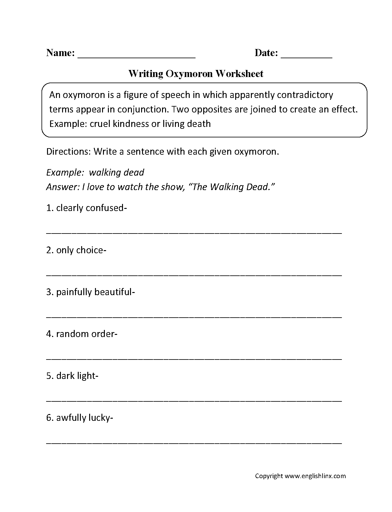 Common Core Figurative Language 5th Grade Worksheets