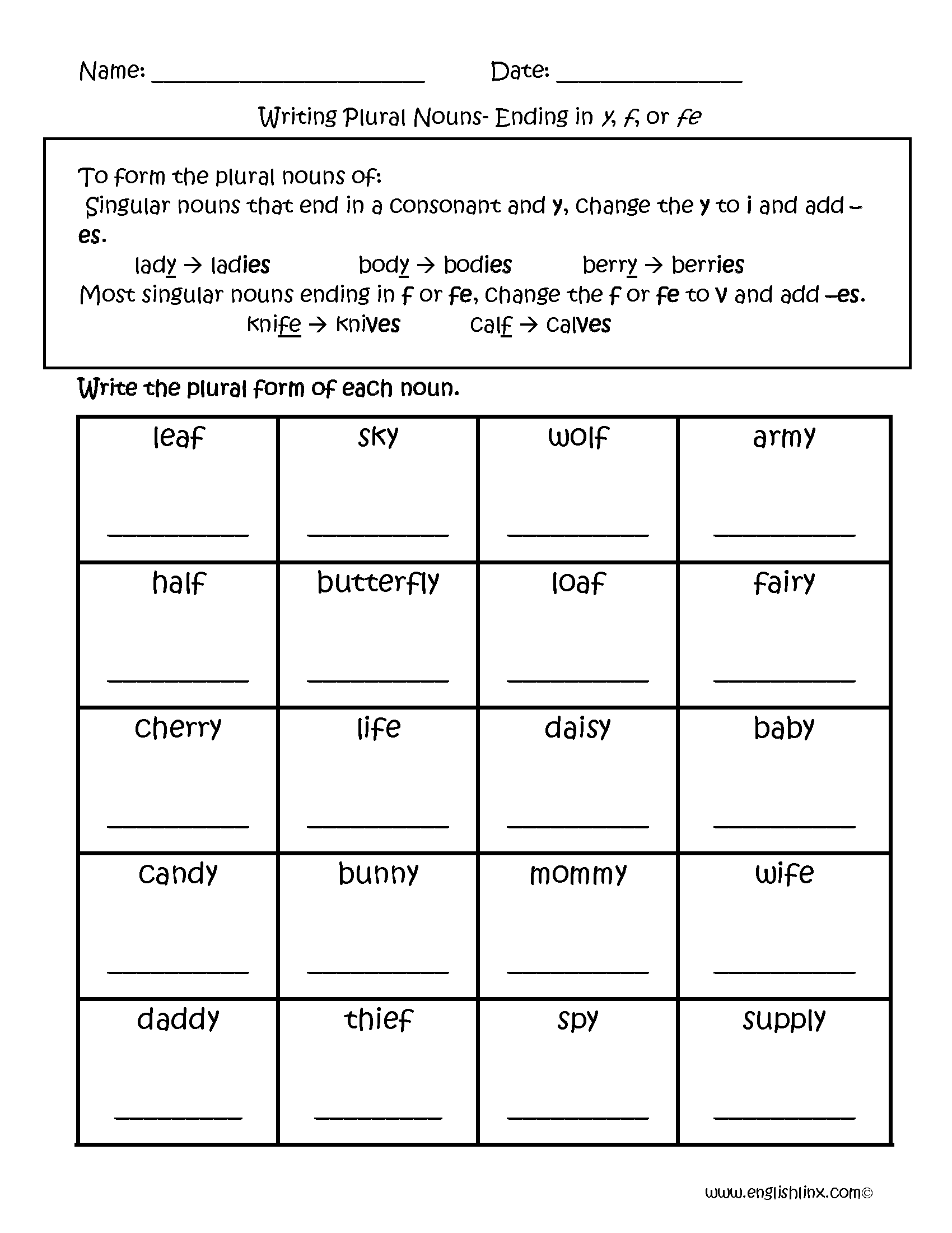 hight resolution of Singular and Plural Nouns Worksheets   Writing Plural Nouns Worksheets