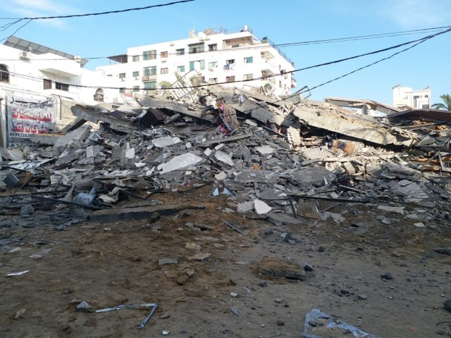 Gaza News bombed by Israel