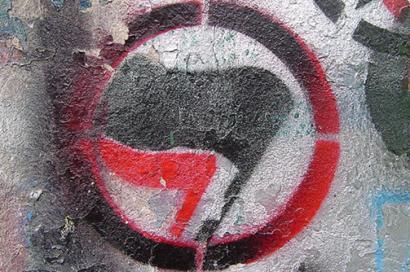 Antifa spray painting