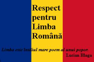 Respect limba romana