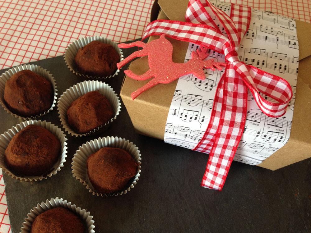 DIY Christmas Chocolate Truffles English Rose From