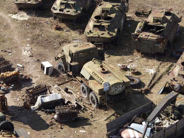 Abandoned Russian army scrap metal 6
