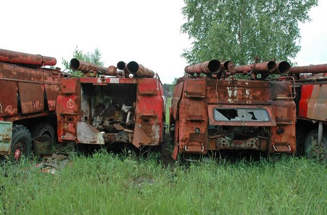 Abandoned Russian army scrap metal 12