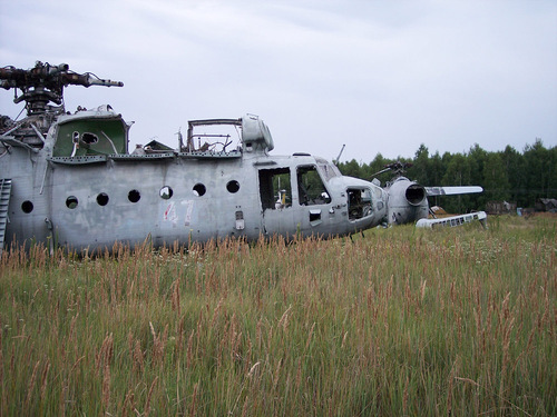 Abandoned Russian army scrap metal 16