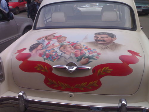 russian car with stalin aerography  7