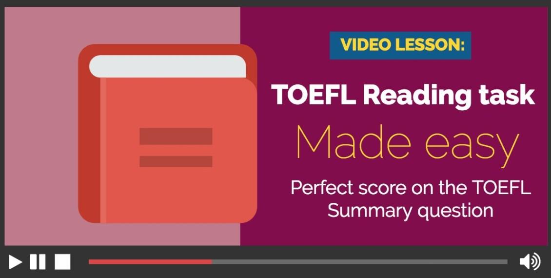 TOEFL reading task