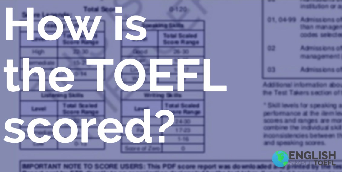 how is the toefl scored
