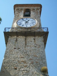 French Stone Clock Tower