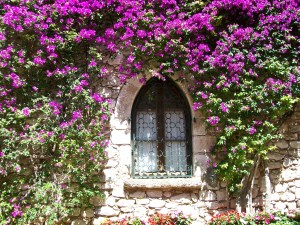 Beautiful French Village Home Window Image