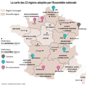 new 13 regions of France