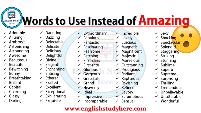 Words to Use Instead of Amazing