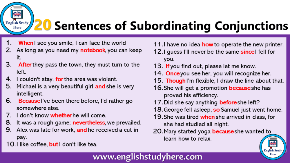 medium resolution of 10 Example of Conjunction in a Sentence - English Study Here