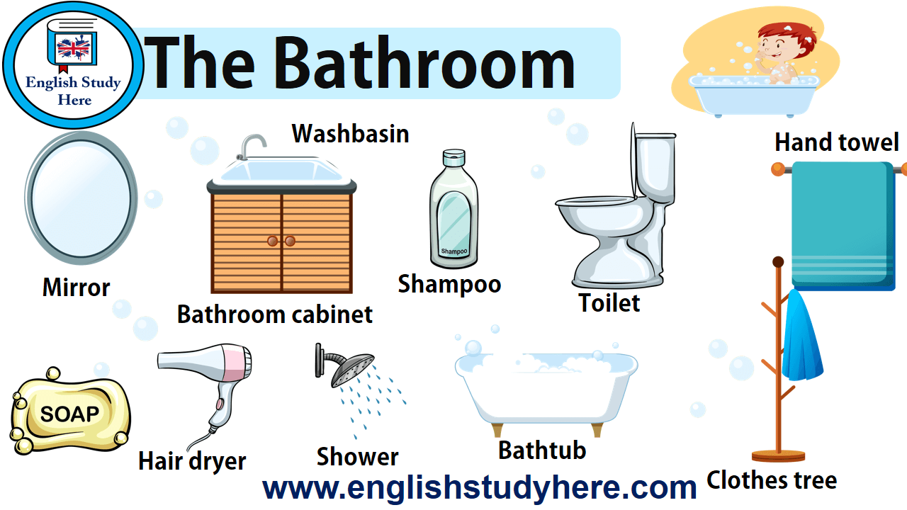 The Bathroom Vocabulary In English English Study Here