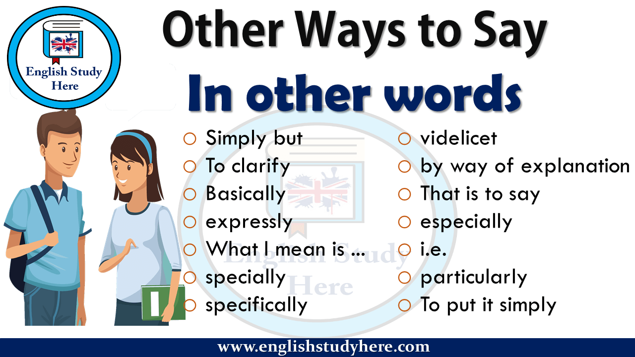 Other Ways to Say In other words - English Study Here