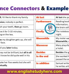 Sequence Connectors and Example Sentences - English Study Here [ 720 x 1280 Pixel ]