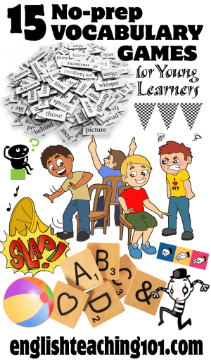 15 Vocabulary Games that require little to no preparation!
